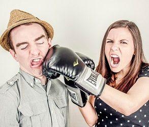 boxningshandskar och slag